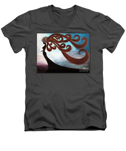 Black Magic Woman Men's V-Neck T-Shirt
