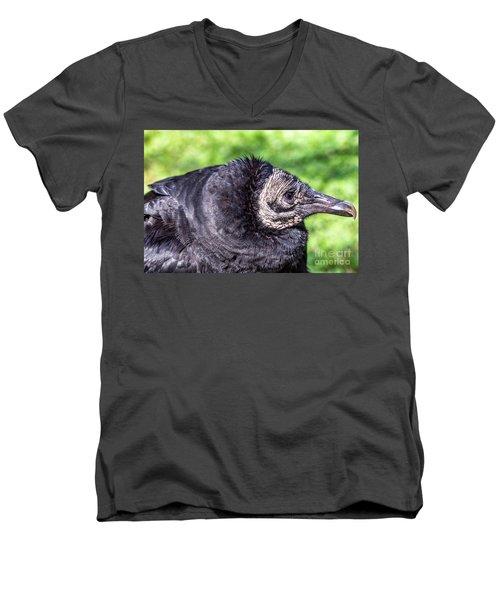 Black Vulture Waiting For Prey Men's V-Neck T-Shirt