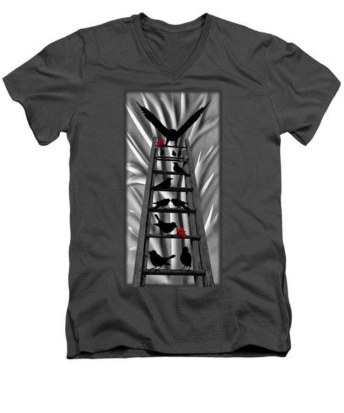 Blackbird Ladder Men's V-Neck T-Shirt