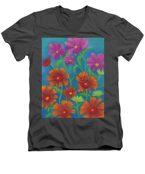 Blanket Flowers And Cosmos Men's V-Neck T-Shirt