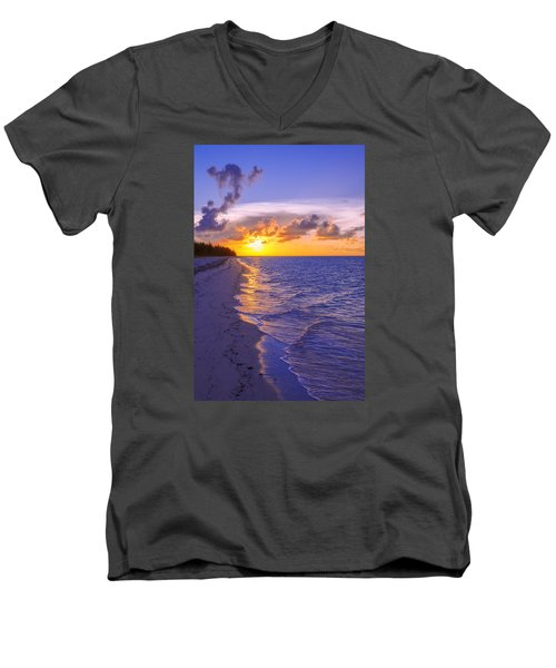Blaze Men's V-Neck T-Shirt by Chad Dutson