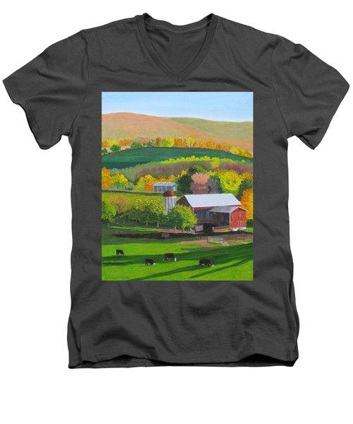 Blazing Autumn Color Men's V-Neck T-Shirt