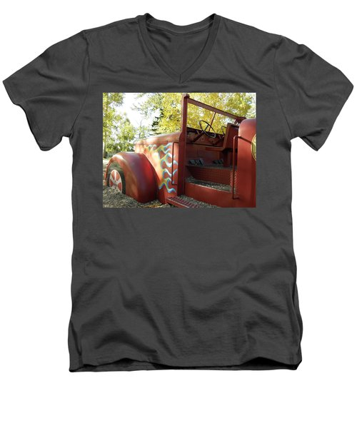 Blazing Red Fire Truck Men's V-Neck T-Shirt