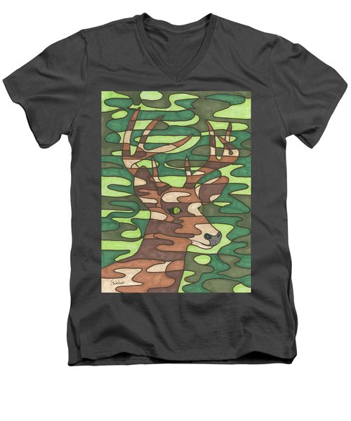 Blending In Men's V-Neck T-Shirt