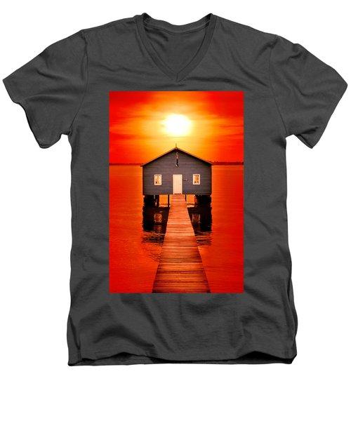 Blood Sunset Men's V-Neck T-Shirt