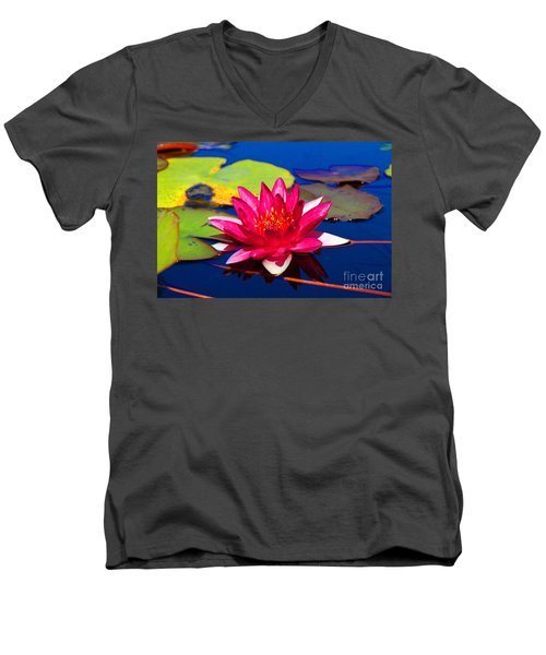 Blooming Lily Men's V-Neck T-Shirt
