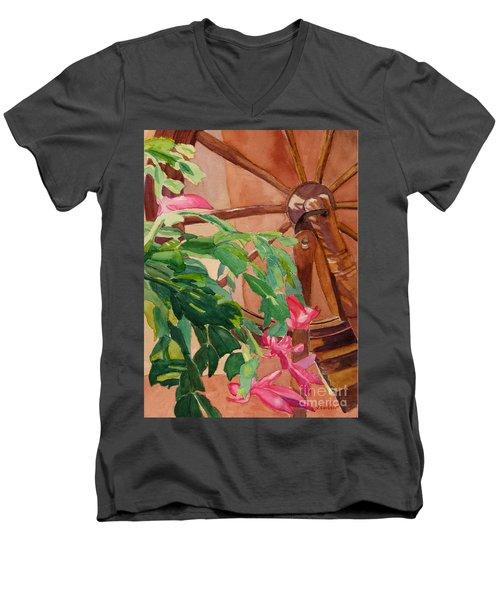 Bloomin' Cactus Men's V-Neck T-Shirt