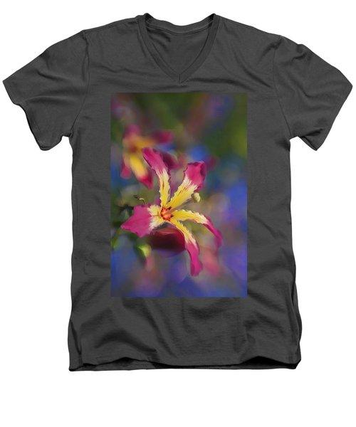 Bloomin Hong Kong Orchid Men's V-Neck T-Shirt
