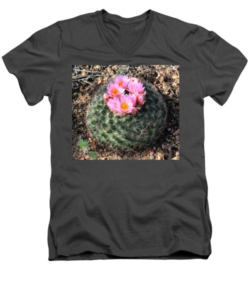Blooming Cactus Men's V-Neck T-Shirt