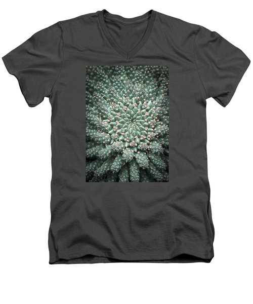 Blooming Geometry Men's V-Neck T-Shirt by Caitlyn  Grasso