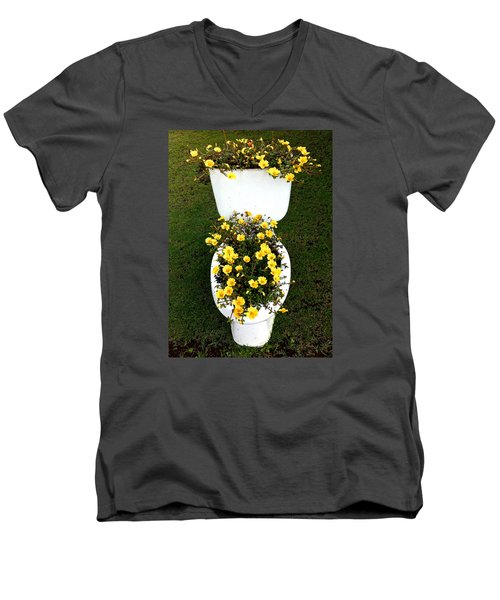 Blooming Loo Men's V-Neck T-Shirt