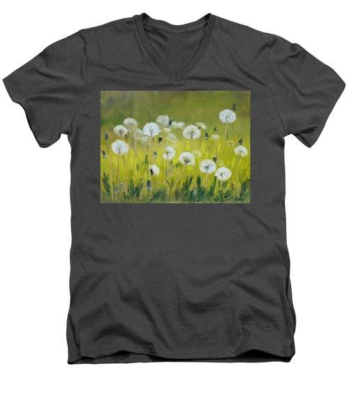 Blow Balls Men's V-Neck T-Shirt by Irek Szelag