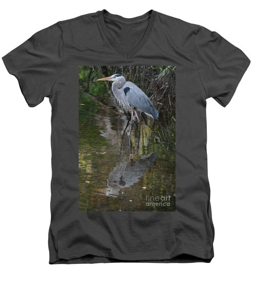 Blue 1212 Men's V-Neck T-Shirt