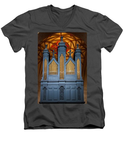 Blue And Gold Music Men's V-Neck T-Shirt