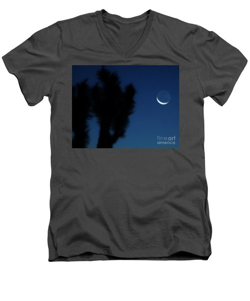 Men's V-Neck T-Shirt featuring the photograph Blue by Angela J Wright