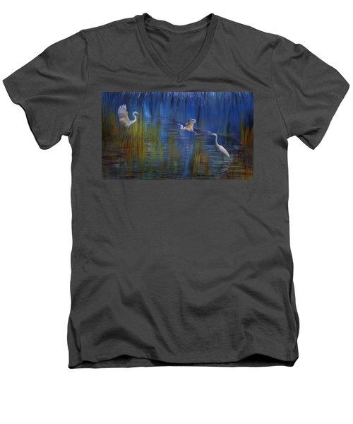 Blue Bayou II Men's V-Neck T-Shirt