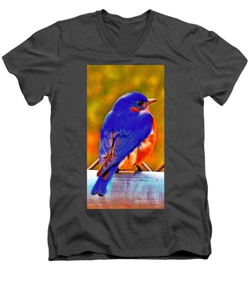 Blue Beauty 2013 Men's V-Neck T-Shirt