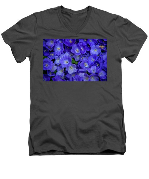 Blue Bells Carpet. Amsterdam Floral Market Men's V-Neck T-Shirt
