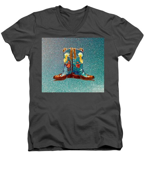 Blue Boots Men's V-Neck T-Shirt
