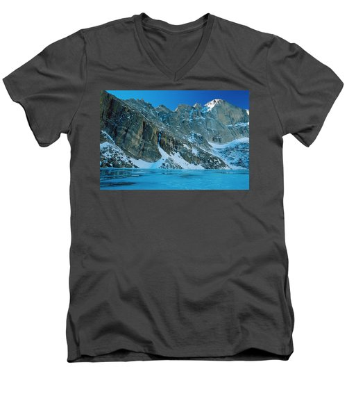 Blue Chasm Men's V-Neck T-Shirt by Eric Glaser