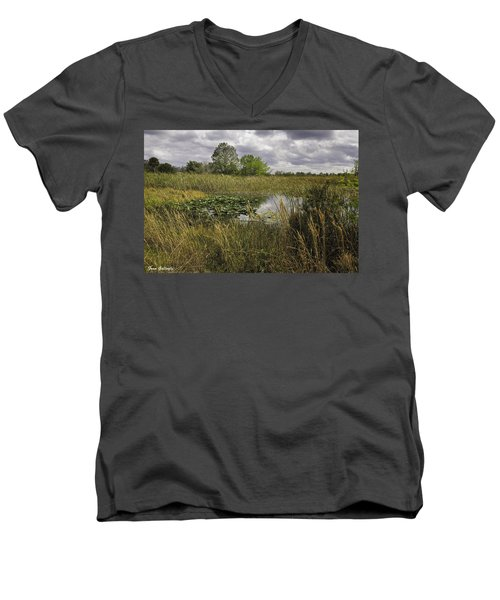 Blue Cypress Wetlands Men's V-Neck T-Shirt