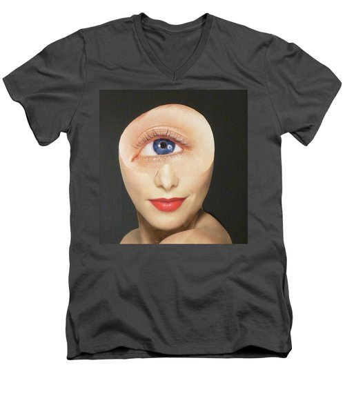Blue Eye Beauty Cutie Men's V-Neck T-Shirt by Douglas Fromm