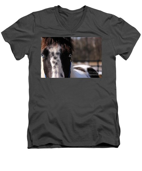 Blue Eye Stare Men's V-Neck T-Shirt