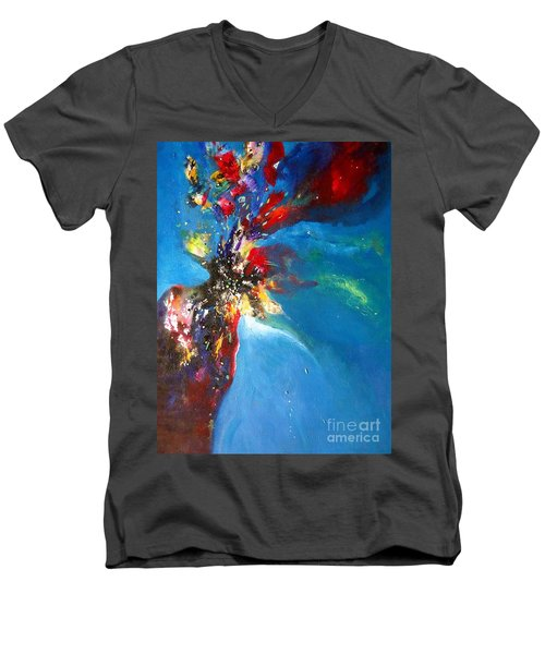 Blue Harmony  Men's V-Neck T-Shirt