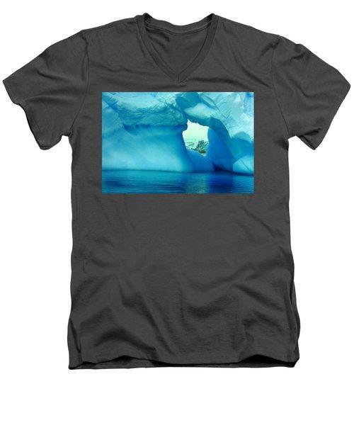 Blue Iceberg Antarctica Men's V-Neck T-Shirt