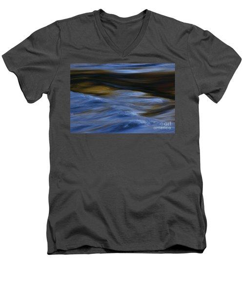 Men's V-Neck T-Shirt featuring the photograph Blue Georgia Impressions by John F Tsumas