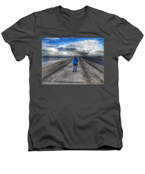 Blue Moods Men's V-Neck T-Shirt