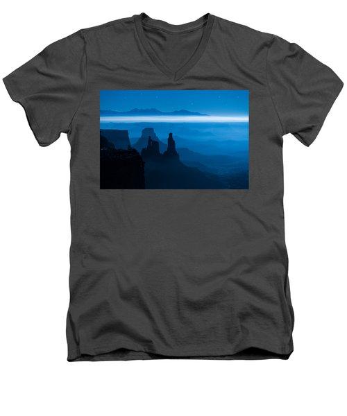 Blue Moon Mesa Men's V-Neck T-Shirt