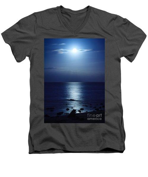 Blue Moon Rising Men's V-Neck T-Shirt