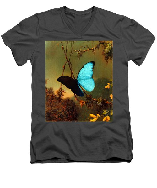 Blue Morpho Butterfly Men's V-Neck T-Shirt
