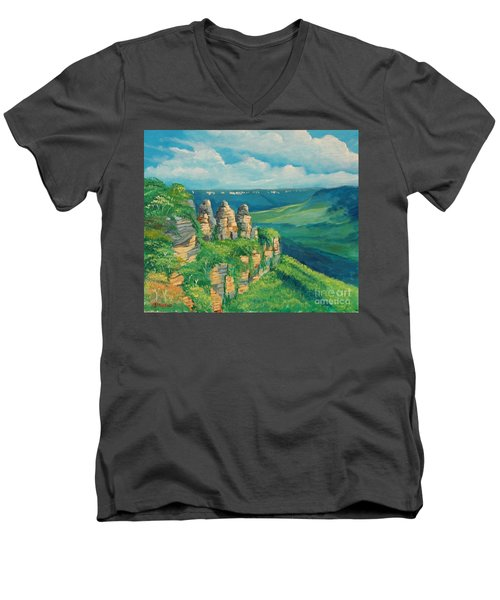 Blue Mountains Australia Men's V-Neck T-Shirt