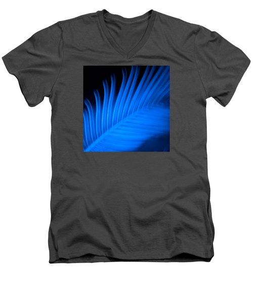 Blue Palm Men's V-Neck T-Shirt by Darryl Dalton