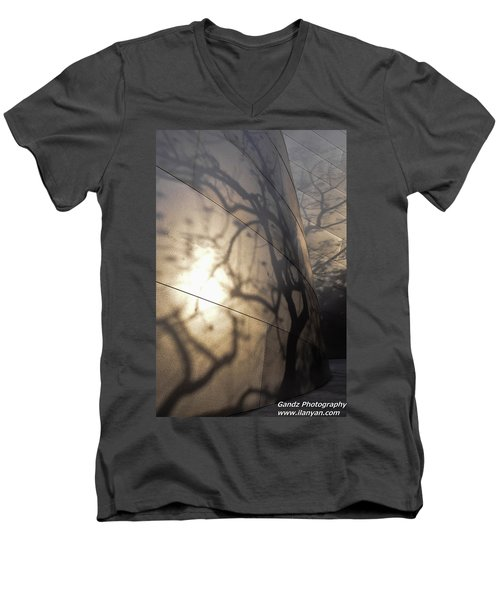 Blue Ribbon Garden 2 Men's V-Neck T-Shirt by Gandz Photography