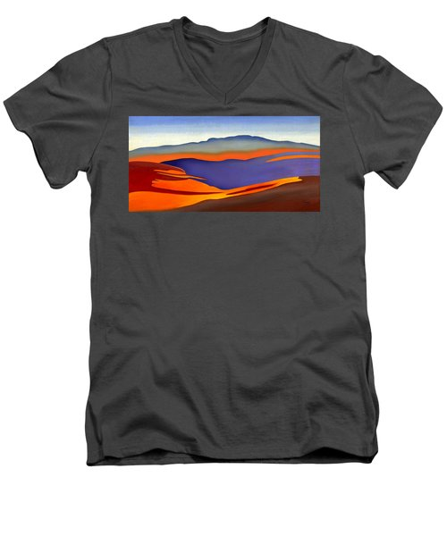 Blue Ridge Mountains East Fall Art Abstract Men's V-Neck T-Shirt