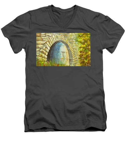 Blue Ridge Tunnel Men's V-Neck T-Shirt