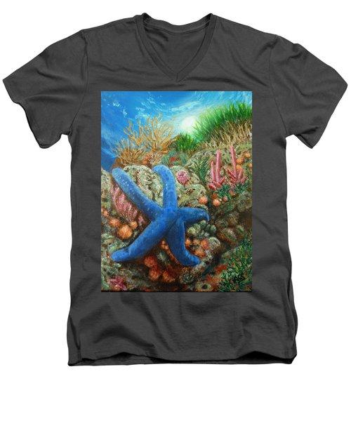 Blue Seastar Men's V-Neck T-Shirt