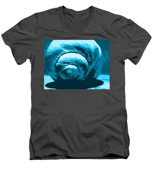 Blue Shell - Sea - Ocean Men's V-Neck T-Shirt