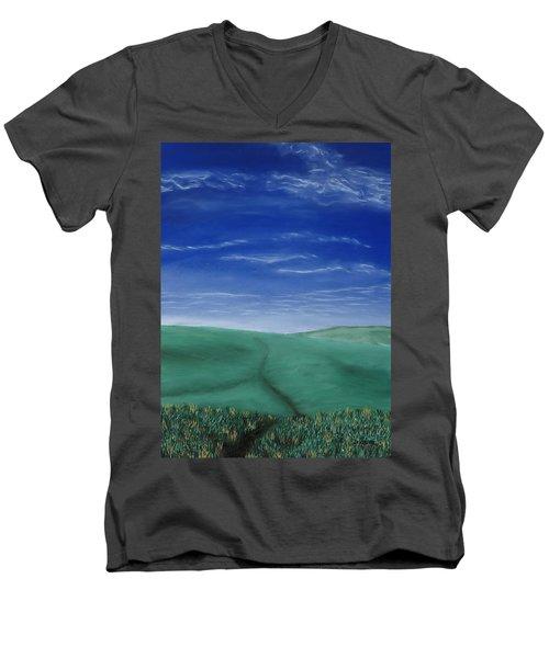 Blue Skies Ahead Men's V-Neck T-Shirt