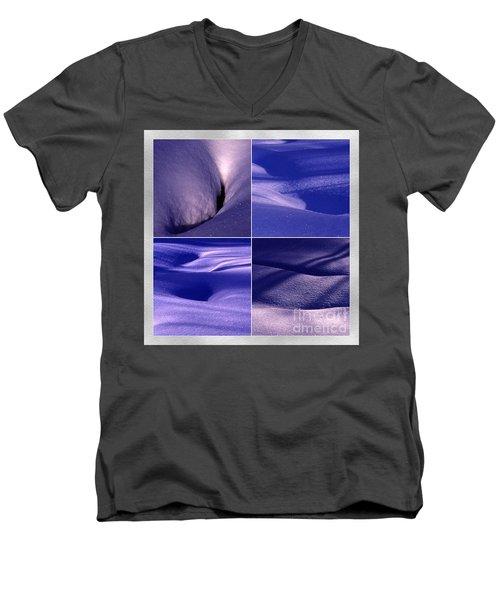 Blue Snow Men's V-Neck T-Shirt by Randi Grace Nilsberg