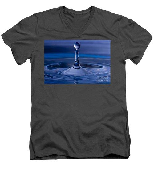Blue Water Drop Men's V-Neck T-Shirt