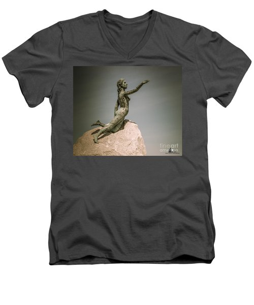 Blue Water Maiden Men's V-Neck T-Shirt