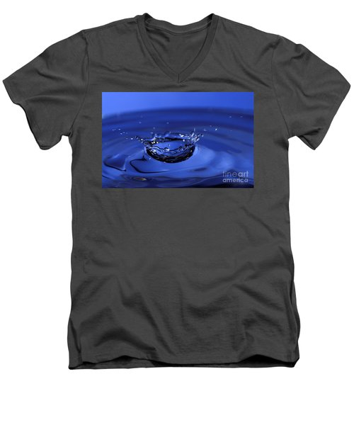 Blue Water Splash Men's V-Neck T-Shirt