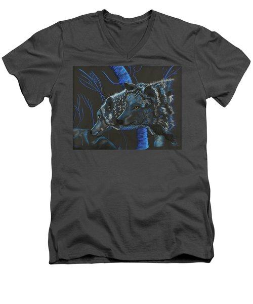 Blue Wolves Men's V-Neck T-Shirt