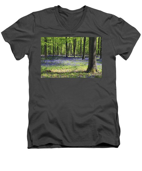 Bluebell Wood Uk Men's V-Neck T-Shirt
