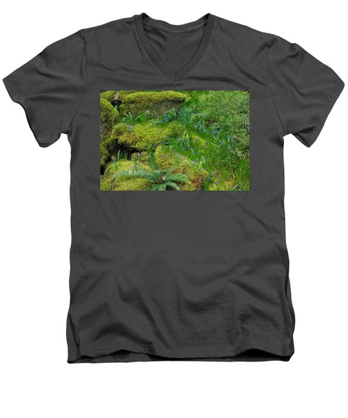 Men's V-Neck T-Shirt featuring the photograph Bluebells  by Marilyn Wilson