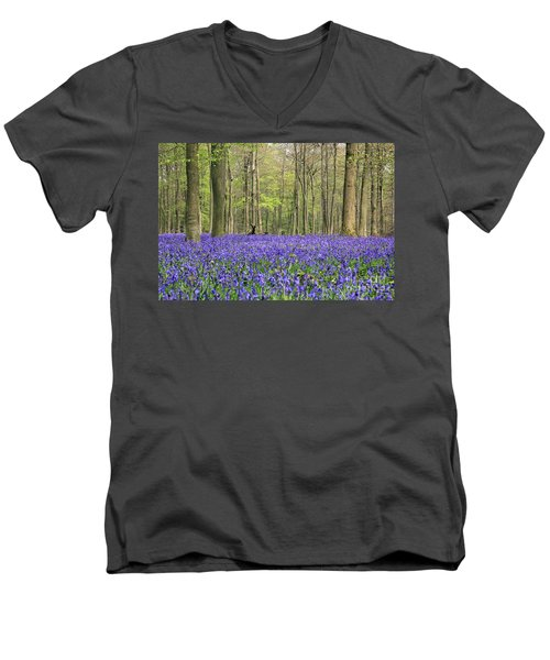 Bluebells Surrey England Uk Men's V-Neck T-Shirt